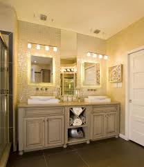 Bathroom Bathroom Cabinets Lights Magnificent On In Mirror With 16 ...