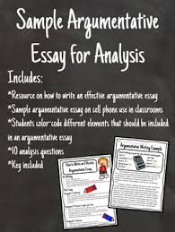 writing analysis argumentative essay writing sample for analysis with questions cell