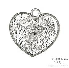 2019 silver plated proud wife of usmc united states marine corps pendant charm heart findings for jewelry making from yzswhn123456 20 31 dhgate com