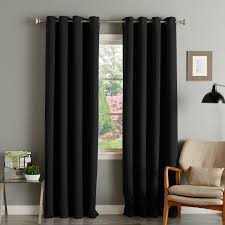aurora home thermal insulated blackout grommet top 84 inch curtain panel pair 52 x 84 on free today com 4359827