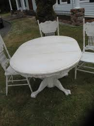 image of distressed round dining table style