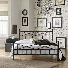 Premier Christel Metal Platform Bed Frame Full with Bonus Base ...