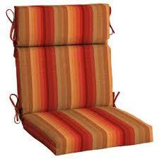 21 5 x 20 sunbrella astoria sunset high back outdoor dining chair cushion