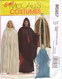 Cape Sewing Pattern Amazing McCall's Easy Sewing Pattern M48 Adult Renaissance Cape Cloak