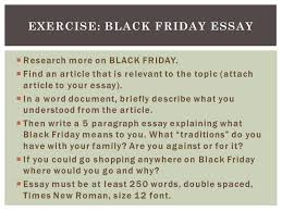 black friday essay ppt video online exercise black friday essay