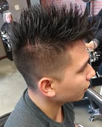 Mens Spiky Undercut With Fade