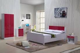 red and white bedroom furniture. Image Is Loading High-Gloss-Bedroom-Furniture-Set-Red-White-Wardrobe- Red And White Bedroom Furniture I