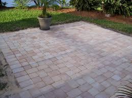 square concrete paver patio hardscape brick patios laying tile over deck tiles diy concrete patio