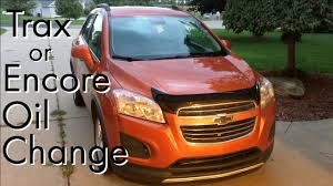 2016 Chevy Trax Reset Oil Light Chevy Trax Buick Encore Oil Change How To Diy