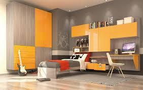 modern kids room furniture. Gulliver Modern Kid Bedroom With Wall Wardrobe Yellow And Elm Finish Kids Room Furniture