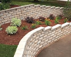 retaining walls and seating upgrade landscaping
