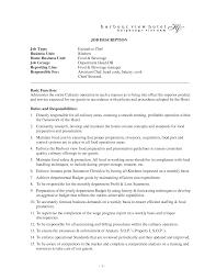 Chef Job Description Resume Best Photos of Executive Chef Job Description Executive Duties of 6