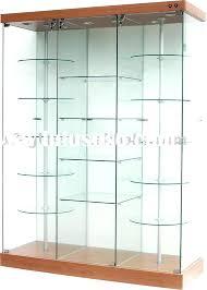 glass display case aluminium double door cabinet with
