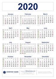 Calendars 2020 Free Free Download 2020 Calendar With Week Numbers