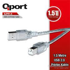 Qport PR 1.5 USB 2.0 1.5 M Printer Kablosu (Q-PR1.5) Fiyatı