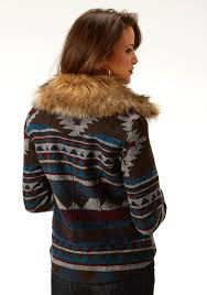 Stetson Womens Multi Aztec Print Jacket