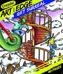 Amazoncom Crayola Get Surreal Coloring Pages Get Surreal Toys Games