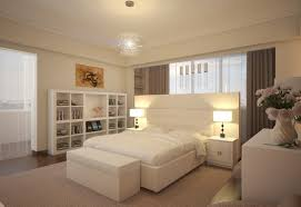 Decorations:Excellent White Modern Bedroom Furniture Decorating Ideas  Showing Open Wood Shelves Also Cubical Table