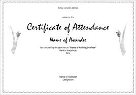 Free Printable Perfect Attendance Certificate Template Inspiration 48 Attendance Certificate Templates DOC PDF PSD Free