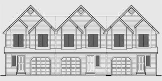 t 414 triplex house plans townhouse with garage 3 unit townhouse plans