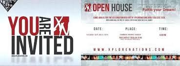 Invitation To Open House College Open House Invitation Faux Glitter Celebrations Graduation