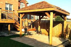 wood patio shade structures
