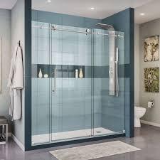sliding glass shower doors new dreamline enigma x 68 to 72 in w x 76 in h
