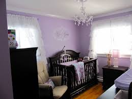 Shabby Chic Bedroom With Dark Furniture Baby Girls Nursery Baby Girls Furniture And The Purple