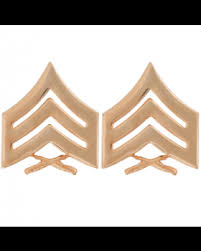 Marine Corps Chevron Sergeant Satin Gold Army Surplus
