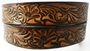 boys high springs leather childrens name belt wildlife scene personalized