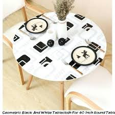 large round pvc tablecloths geometric black and white tablecloth for inch round table large table cover