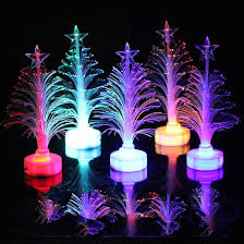 Led Christmas Light Sticks Us 0 88 10 Off Mini Christmas Tree Fiber Optic Night Lights Decorative Lights Colorful Led Light Sticks Carnival Led Party Flash Fiber Fiber In