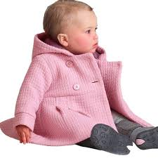 toddler girl peacoat baby warm fleece winter pea coat snow jacket suit clothes red pink in toddler girl peacoat