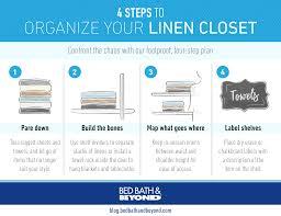 organize your linen closet in 4 steps