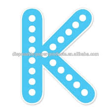 Happy Birthday Banner Blue K Polkadots Alphabet Letters Diy Bunting Banner Party Jointed Letter Cutout Banner Decoration Buy Blue Letter K Diy Party