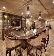 basement bar stone. Basement Bar Ideas With Stone Home Mediterranean Wall Woven Stools Recessed Lighting