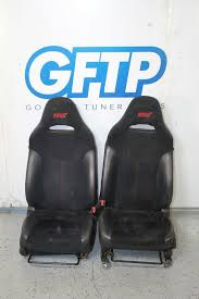 ad 08 14 subaru wrx sti black alcantara front heated seats set