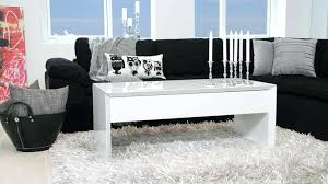 black gloss side table living room coffee marble and glass faux white