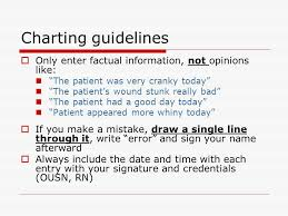 Nursing Charting Guidelines Documentation Nurses Are Legally And Ethically Bound To
