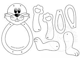 Easter Templates Hopping Easter Bunny Craft Easter Template