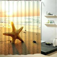 custom printed shower curtain custom printed shower curtain memory home star fish sea shell on beach