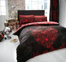 full image for red and black duvet covers double bed red and black duvet covers king
