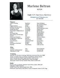Beginner Actor Resume Extraordinary Actor Resume Sample Beginner Child Actor Resume Sample Templates
