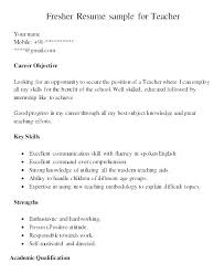 Sample Of A Teacher Resume Resume Sample Of A Teacher Resume Format ...
