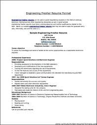 Sample Resume Formats Download Format In Word For Freshers
