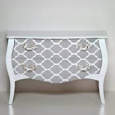 stenciling furniture ideas. Creative Idea:Luxury Grey Wood Stencil Drawer With Stainless Hooks Luxury Stenciling Furniture Ideas