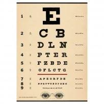 Eye Chart Doctors Office Vintage Style Poster Guest Room