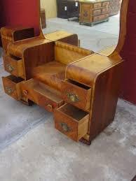 American Vanity Dresser Art Deco Waterfall Bedroom Furniture Sold