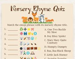 Baby Shower Game  Finish The Nursery Rhyme Flyer  ZazzlecomBaby Shower Games Nursery Rhymes