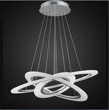 ring pendant chandelier modernplace contemporary led chandeliers